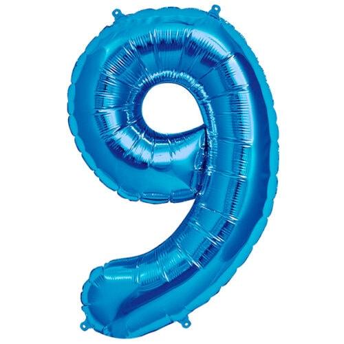 Zahlenballon Blau